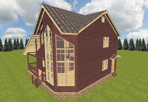 Фото 3: проект дом из бруса 10х10