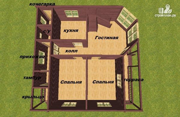 Фото 12: проект дом из бруса 10х10
