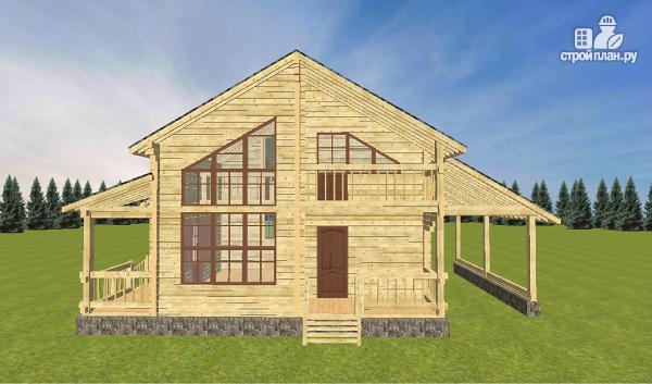 Фото 7: проект дом из бруса  13.5х9.5 со вторым светом