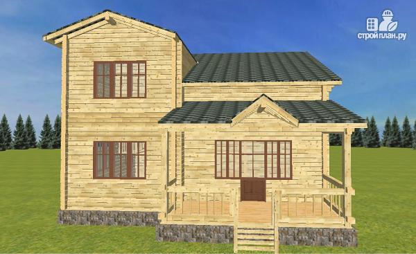 Фото 4: проект дом из бруса  13.5х9.5 со вторым светом