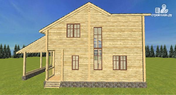 Фото 5: проект дом из бруса  13.5х9.5 со вторым светом