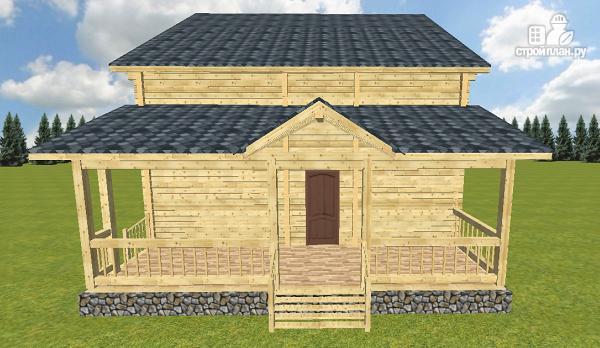 Фото 6: проект дом из бруса 10х14 с баней