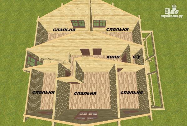 Фото 13: проект дом из бруса 10х14 с баней