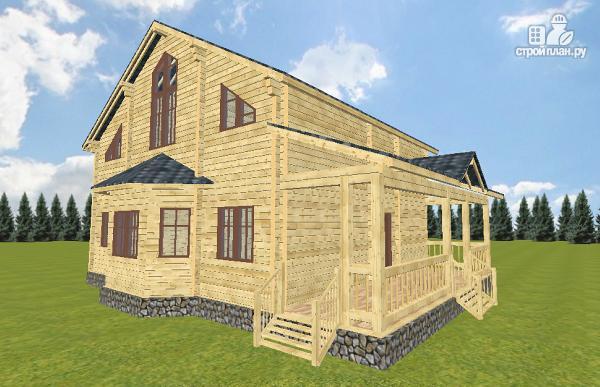 Фото 3: проект дом из бруса 10х14 с баней