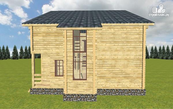 Фото 4: проект дом из бруса 10х14 с баней