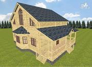 Проект дом из бруса 10х14 с баней