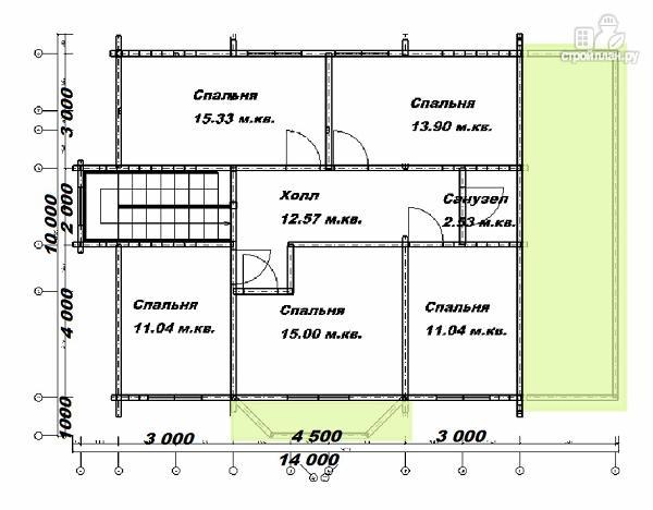 Фото 12: проект дом из бруса 10х14 с баней
