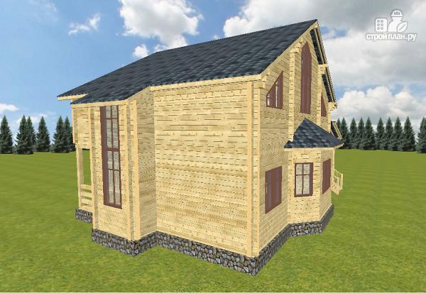 Фото 2: проект дом из бруса 10х14 с баней