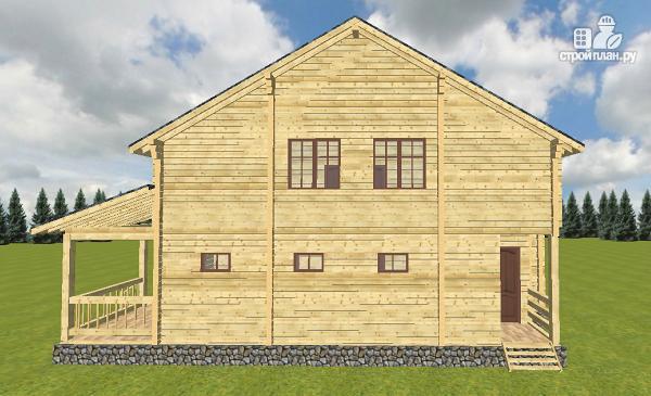 Фото 5: проект дом из бруса 10х14 с баней