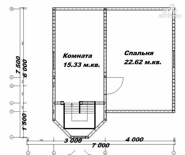 Фото 11: проект дом из бруса 7х7.5
