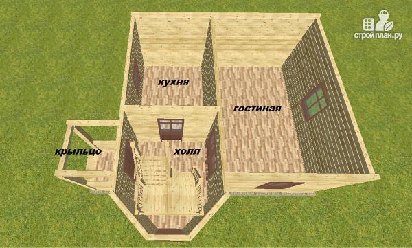 Фото 10: проект дом из бруса 7х7.5