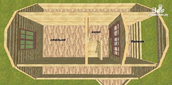 Фото 12: проект дом из бруса 6х8