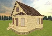 Проект дом из бруса 7х8