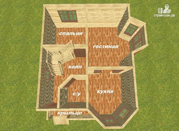 Фото 10: проект дом из бруса 7х8