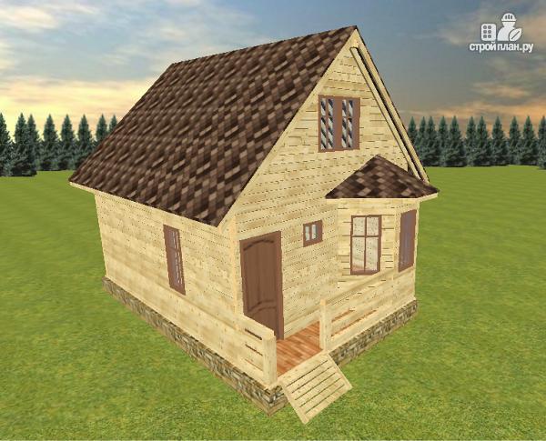 Фото 2: проект дом из бруса 7х8