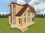 Проект дом из бруса 8х10