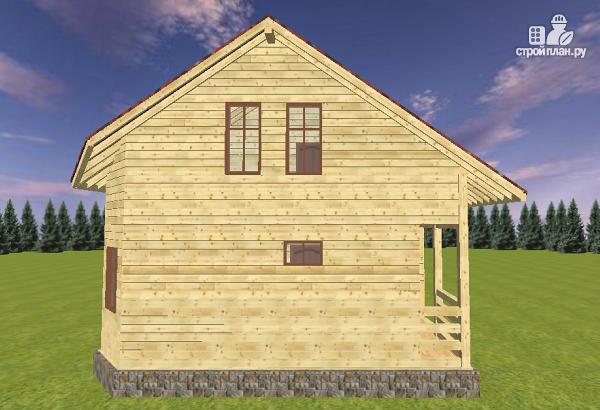 Фото 4: проект дом из бруса 8х8