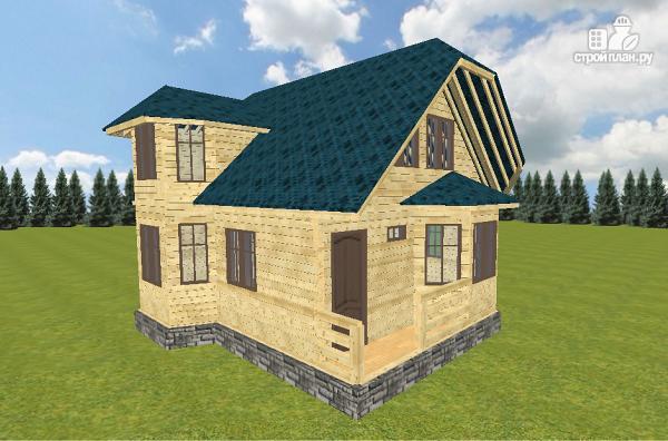 Фото 3: проект дом из бруса 7.5х9