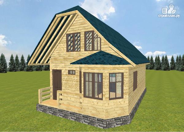 Фото 2: проект дом из бруса 7.5х9