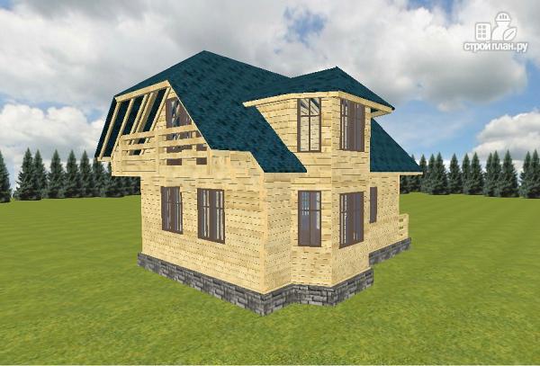 Фото: проект дом из бруса 7.5х9