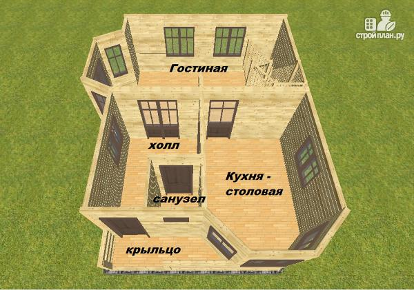 Фото 10: проект дом из бруса 7.5х9