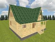 Проект дом из бруса 9х10