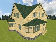 Проект дом из бруса 12х11.5