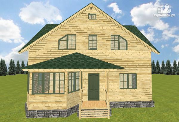 Фото 2: проект дом из бруса 12х11.5