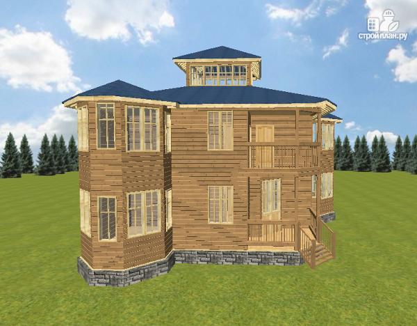 Фото 15: проект смежный дом из бруса на две семьи