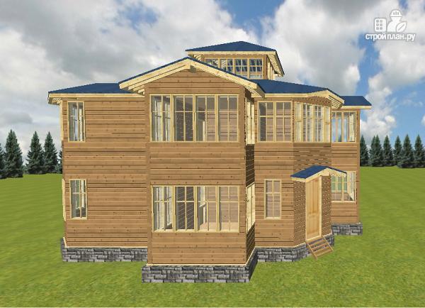 Фото 12: проект смежный дом из бруса на две семьи