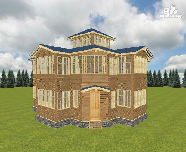 Фото 13: проект смежный дом из бруса на две семьи