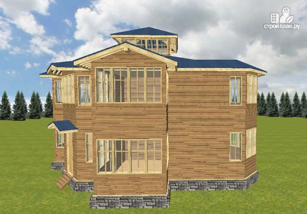 Фото 14: проект смежный дом из бруса на две семьи