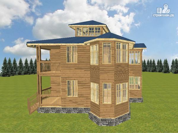 Фото 11: проект смежный дом из бруса на две семьи
