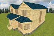 Проект смежный дом из бруса на две семьи