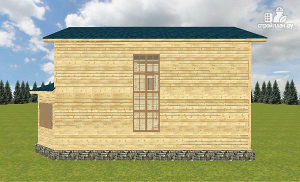 Фото 10: проект смежный дом из бруса на две семьи