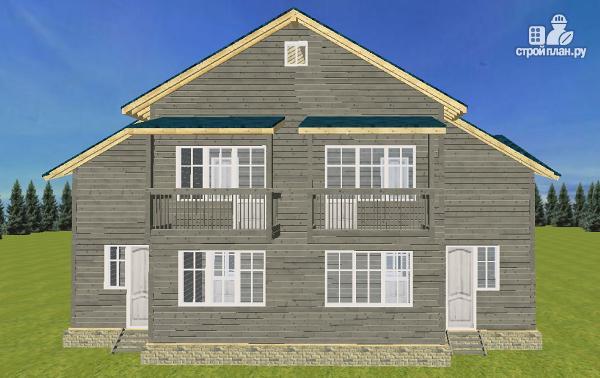 Фото 4: проект смежный дом из бруса на две семьи