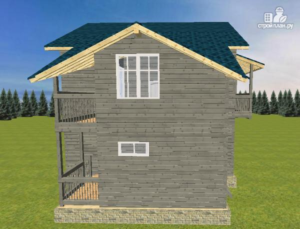 Фото 3: проект смежный дом из бруса на две семьи