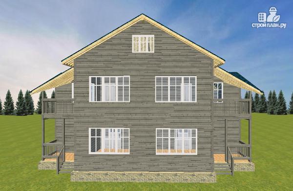 Фото 2: проект смежный дом из бруса на две семьи