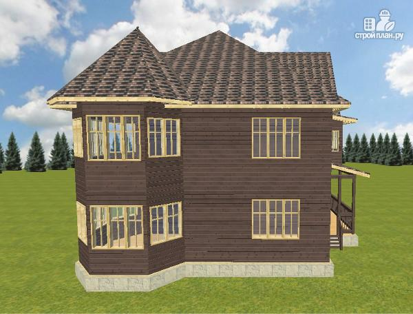 Фото 3: проект дом с башенками, на две семьи