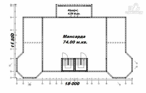 Фото 14: проект дом с башенками, на две семьи