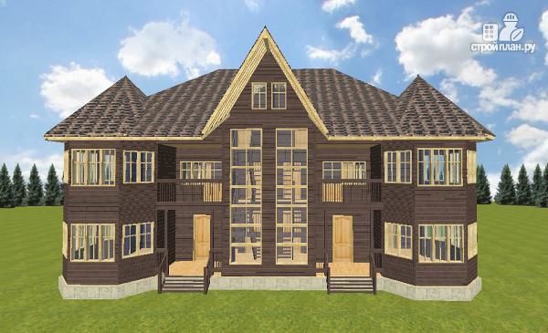 Фото 2: проект дом с башенками, на две семьи