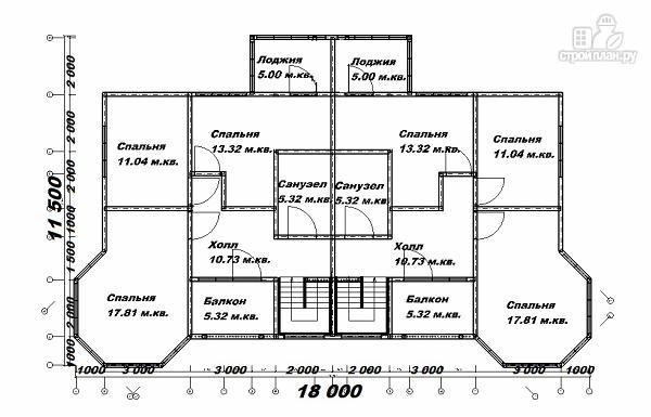 Фото 12: проект дом с башенками, на две семьи