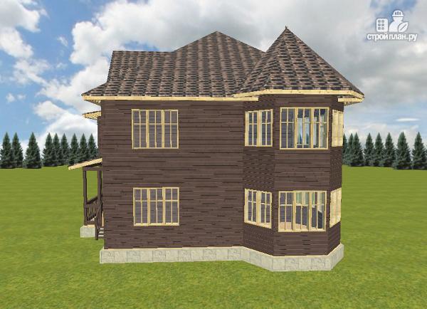 Фото 5: проект дом с башенками, на две семьи