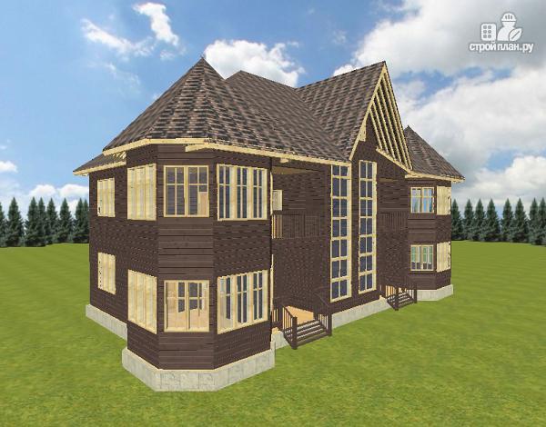Фото 6: проект дом с башенками, на две семьи