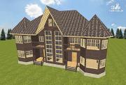 Проект дом с башенками, на две семьи