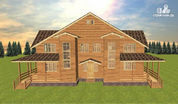 Фото 2: проект дом из бруса на две семьи