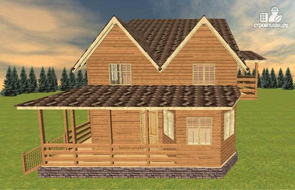 Фото 3: проект дом из бруса на две семьи