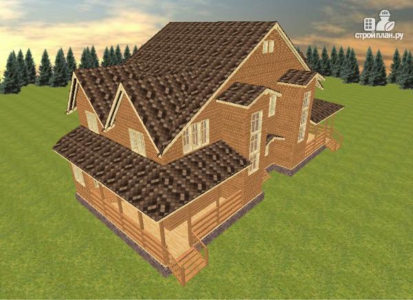 Фото 6: проект дом из бруса на две семьи