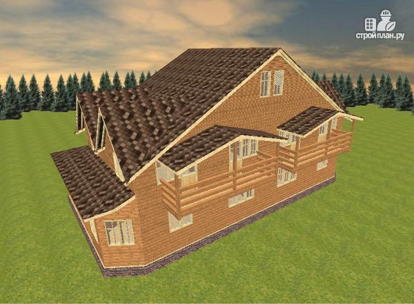 Фото 7: проект дом из бруса на две семьи