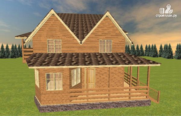 Фото 5: проект дом из бруса на две семьи